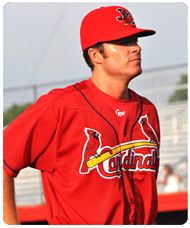 Pitching coach Doug White of the Johnson City Cardinals