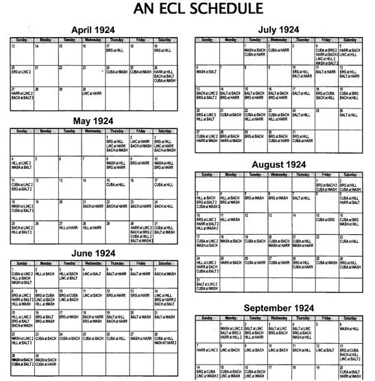 ECL Schedule